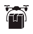 drone box delivery icon simple style vector image