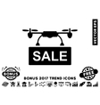 Drone Sale Flat Icon With 2017 Bonus Trend vector image vector image