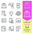e-learning distance education icons set of vector image