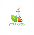eco science bottle logo vector image vector image
