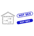 ellipse collage sperm bank with textured hot sex vector image vector image