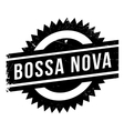 Famous dance style Bossa Nova stamp vector image vector image