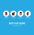 flat icon cacao set of chocolate chocolate bar vector image