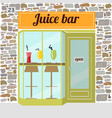 fresh juice bar building vector image