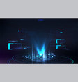 futuristic hologram for presentation in hud style vector image vector image