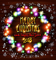 gold merry christmas and happy new year black vector image vector image