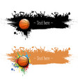 grunge background basketball ball and fans vector image