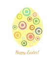 Grunge blobs in a shape of easter egg vector image vector image