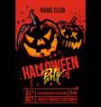 halloween pumpkins on red vector image vector image