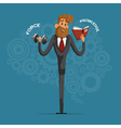 Happy businessman or manager shakes his strength vector image vector image