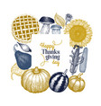 happy thanksgiving day design template hand drawn vector image vector image