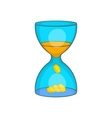 Hourglass time is money icon cartoon style vector image
