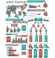 INFOGRAPHIC DEMOGRAPHICS POST IT RED vector image vector image