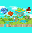 isometric game nature landscape template vector image vector image