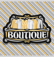 logo for boutique vector image vector image