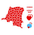 love democratic republic of the congo map vector image