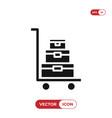luggage trolley icon vector image vector image