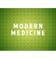 Medicine modern concept vector image vector image