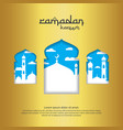 mosque with gold color element design for ramadan vector image