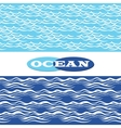 Ocean waves seamless borders vector image