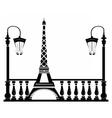 Paris Street Walkway vector image vector image