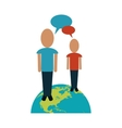 persons world talking chatting vector image vector image