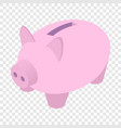 Piggy bank isometric 3d icon vector image vector image