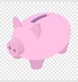 Piggy bank isometric 3d icon vector image