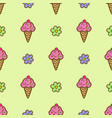 pink ice cream vector image vector image