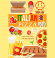 pizza from italy delivery service poster vector image