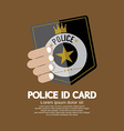 Police ID Card vector image