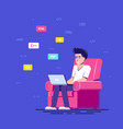 programmer man character design flat style vector image