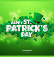 realistic paper cut out st patricks day vector image vector image