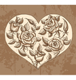 roses heart vector image