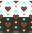 Seamless hearts pattern two colours vector image vector image