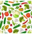 Seamless veggies pattern for farming design vector image