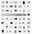 Set of cinema stickers vector image