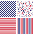 set of us style seamless patterns vector image vector image