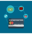 shopping money online vector image vector image