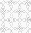 Slim gray cross interlocking ornament vector image vector image