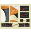 Smart solutions business branding identity set vector image vector image