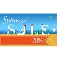 Summer Sale Seventy percents off vector image vector image