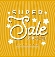 super sale banner for social media template vector image