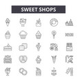 sweet shops line icons signs set linear vector image