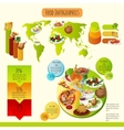 Traditional Food Infographics vector image vector image