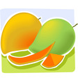 two mangos vector image vector image