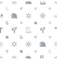 weather icons pattern seamless white background vector image vector image