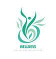 wellness people logo design abstract vector image vector image