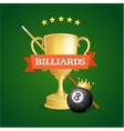 Winning Billiards vector image vector image