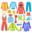 winter clothes warm clothing sweater or vector image